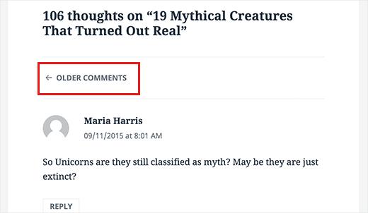 paiginated comments - Wordpress Hız Optimizasyonu