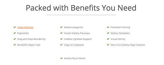 foogalleryfeatures - En iyi WordPress Galeri Eklentisi hangisidir?