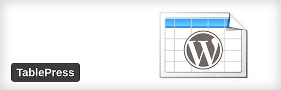 tablepress - En İyi Wordpress Eklentileri
