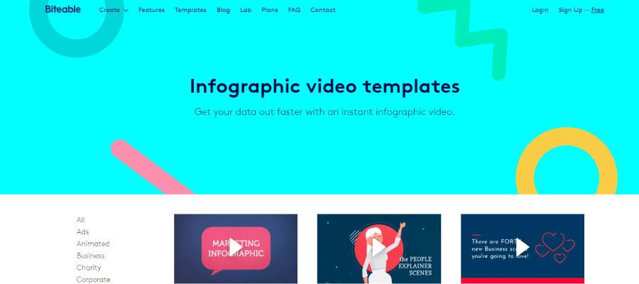 biteable - Ücretsiz İnfografik Oluşturma Araçları