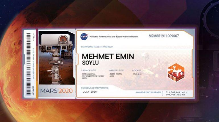 nasa isim gonderme 770x430 - Yeni Trend: Mars'a İsim Göndermek