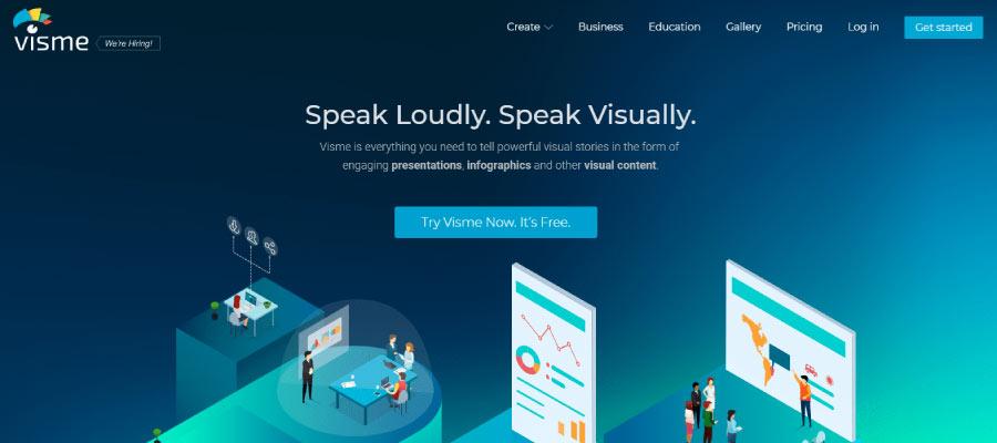 visme - Ücretsiz İnfografik Oluşturma Araçları