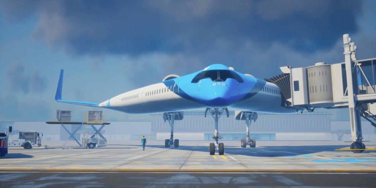 flaying v 01 - Kanatlarında Yolcu Taşıyan İlginç Tasarımlı Uçak
