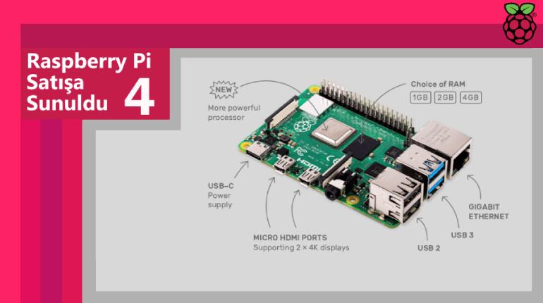 raspberry pi 4 - Raspberry Pi 4 Özellikleri ve Fiyatı