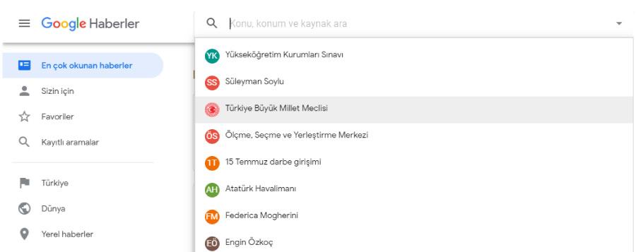 google one cikan haberler - Haber Siteleri İçin Seo Optimizasyonu