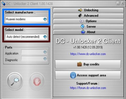 dc unlocker ana menu - 3G Modem Sim Kilidi Kırma