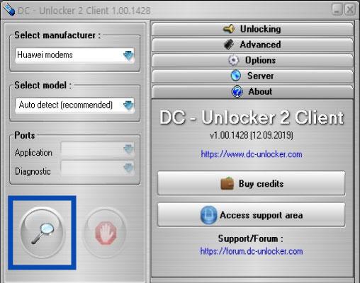 dc unlocker arama menu - 3G Modem Sim Kilidi Kırma