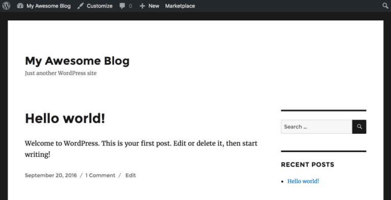wordpress hello world - Wordpress Blog Oluşturma Rehberi