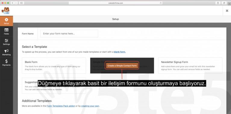 wp forms 01 - Wordpress Blog Oluşturma Rehberi