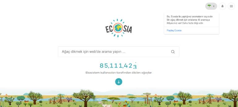 ecosia search engine - 2020 İtibarıyla En İyi Arama Motorları