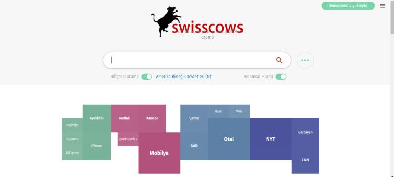 swisscows - 2020 İtibarıyla En İyi Arama Motorları
