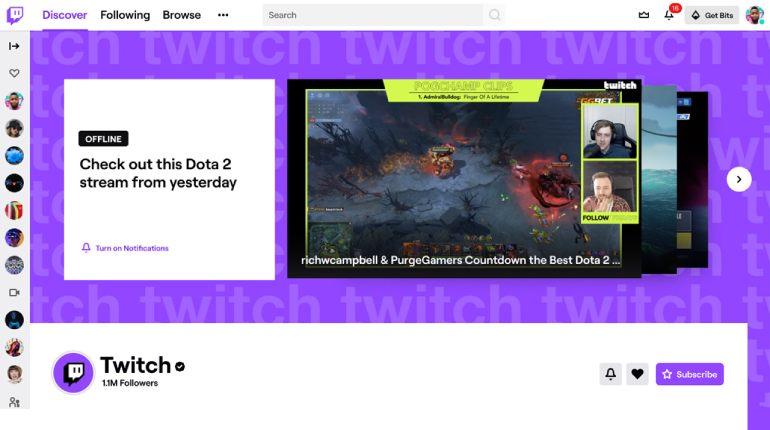 Twitch yeni tasarıma geçti.